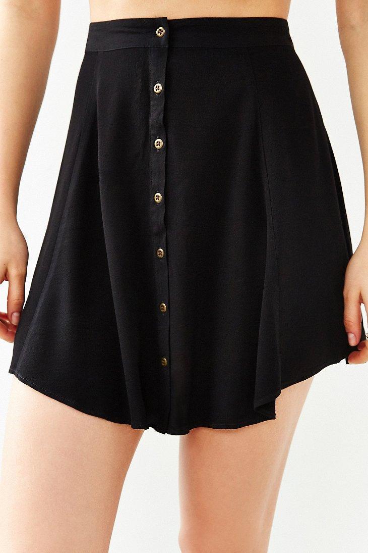 kimchi blue hydrangea mini skirt in black lyst