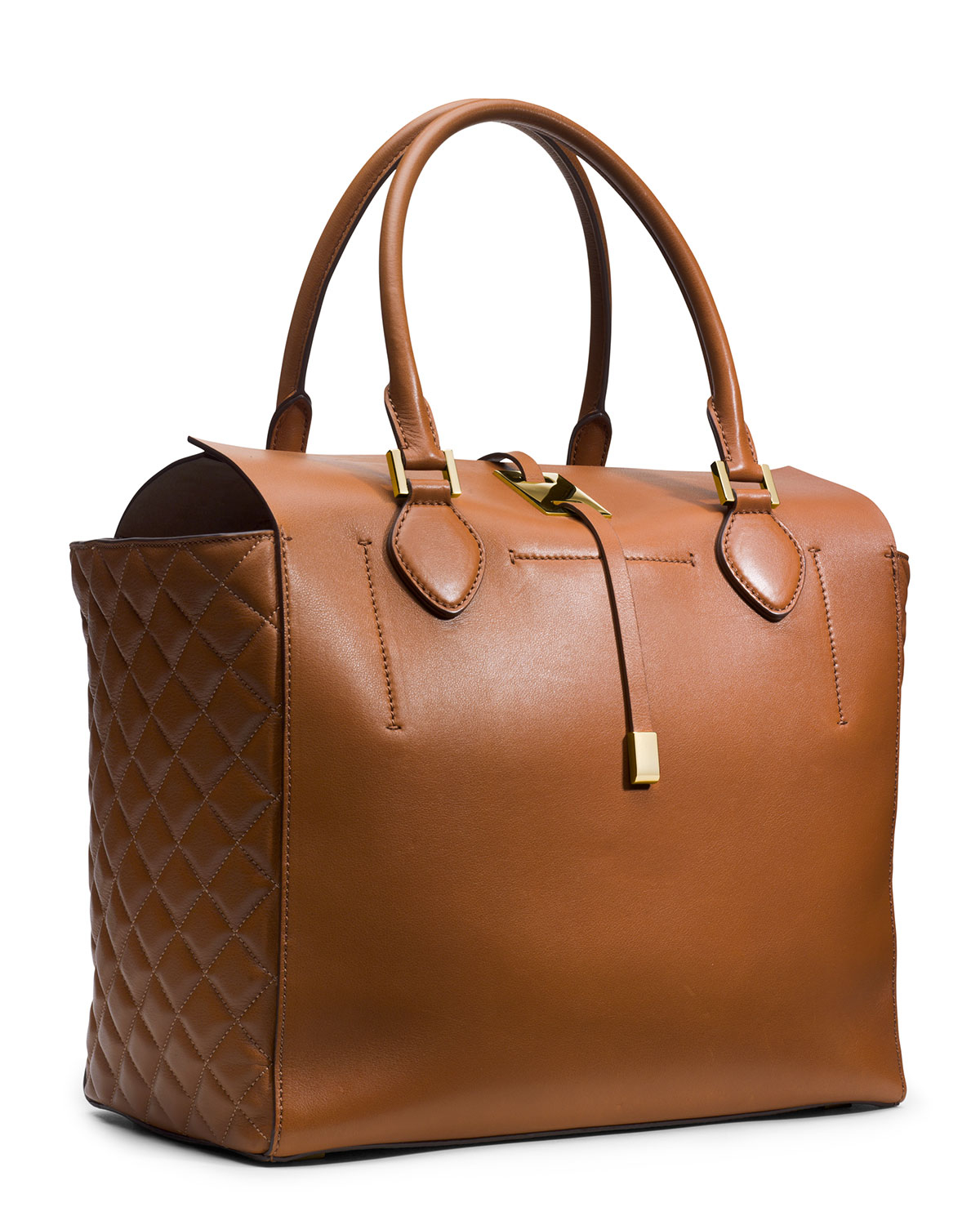 d9d358c0f9a9 Michael Kors Large Miranda Quilted Tote - Best Quilt Grafimage.co