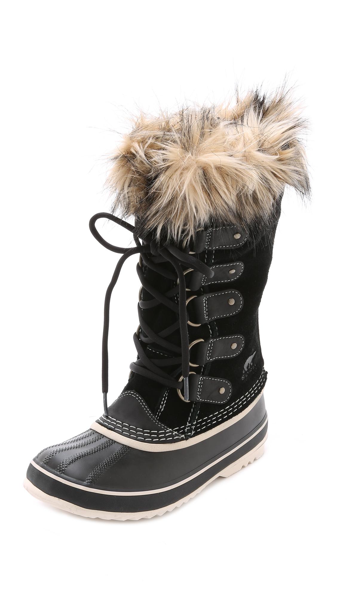 sorel joan of arctic boots in black lyst. Black Bedroom Furniture Sets. Home Design Ideas