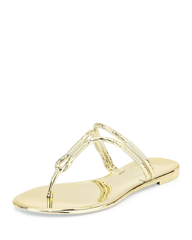 e77c00c45d5c Lyst bcbgmaxazria feld jelly thong sandal in metallic jpg 1200x1500 Bcbg  gold sandals