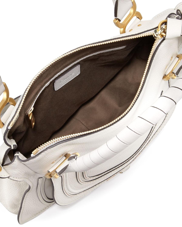 chloe satchel bag - Chlo�� Marcie Medium Satchel Bag in White | Lyst
