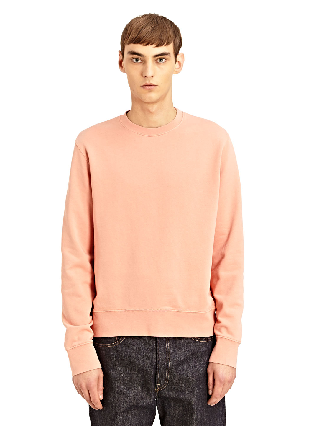 lyst acne studios studios mens crew neck casey sweatshirt in pink for men. Black Bedroom Furniture Sets. Home Design Ideas
