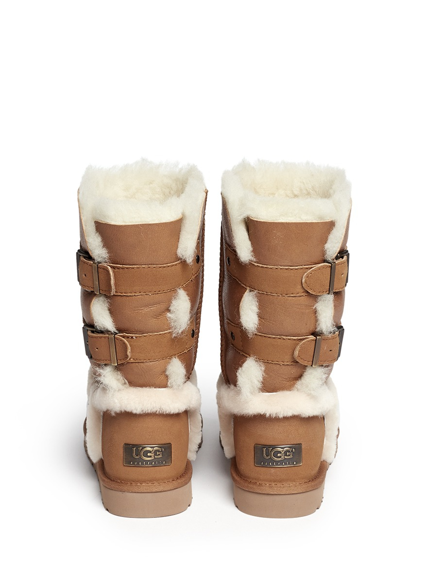 ugg 39 skylah 39 boots in brown lyst
