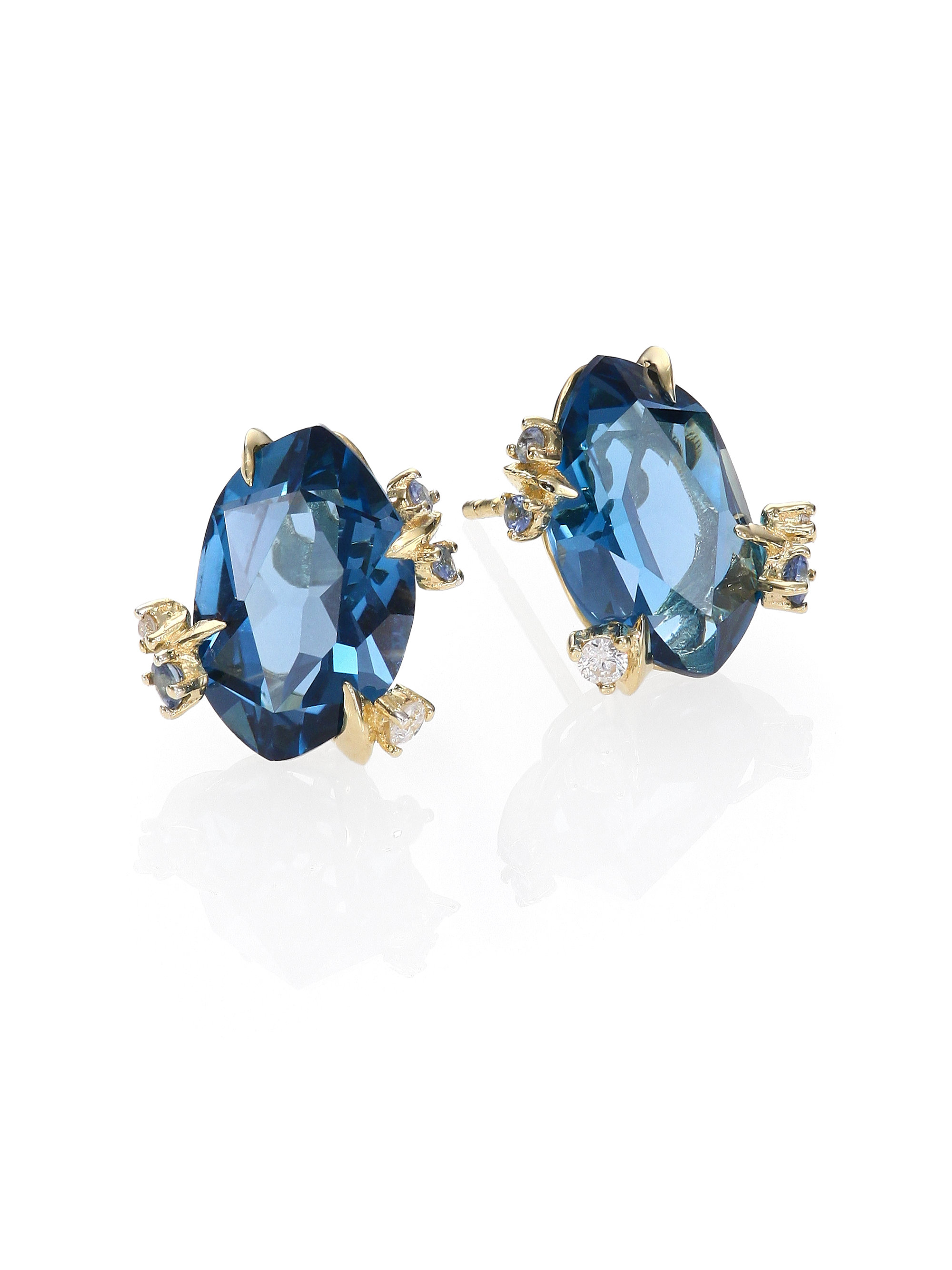 size baker jewellery stud facetted pale franki sapphire topaz silver natural blue earrings search sterling