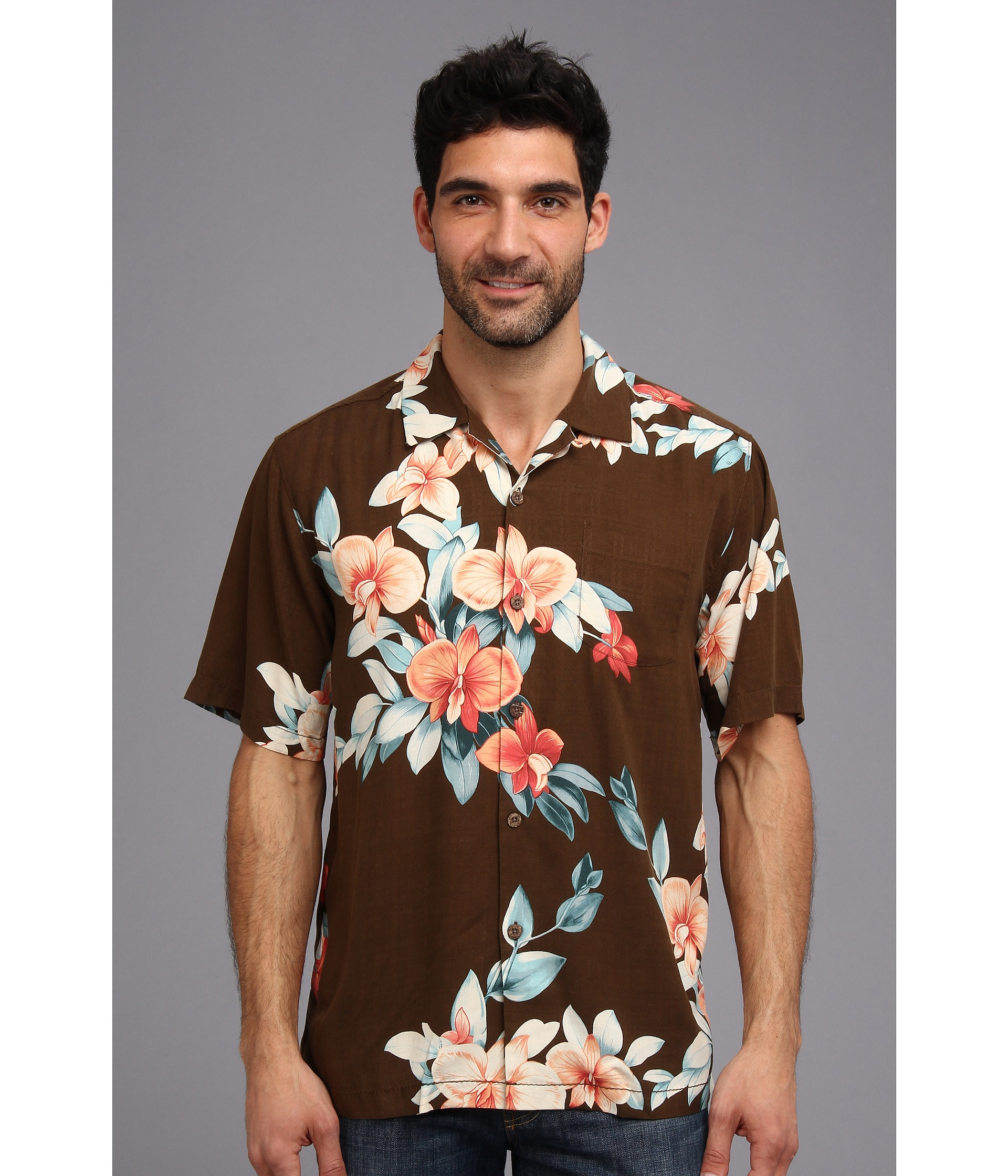 Tommy bahama island modern fit treasure beach floral ss for Tommy bahama christmas shirt 2014
