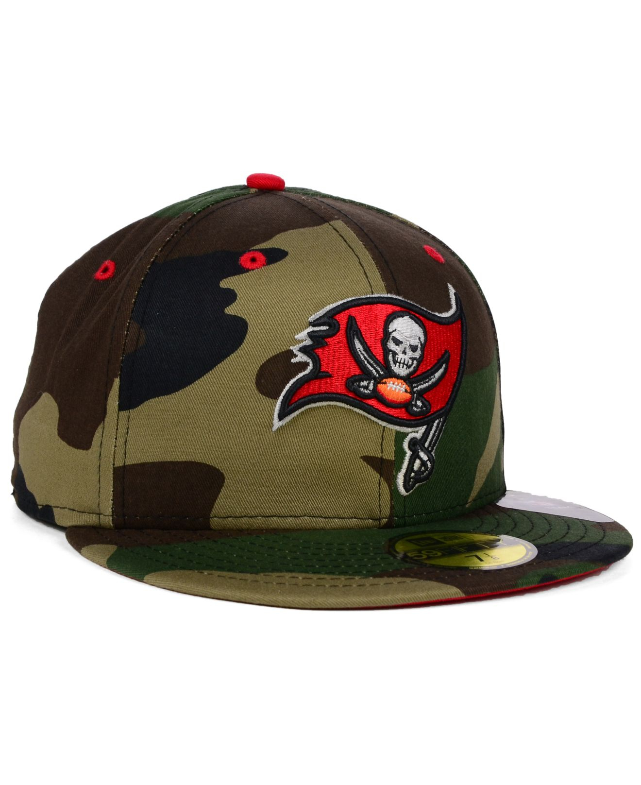 sports shoes e6ba2 5d065 ... promo code lyst ktz tampa bay buccaneers camo pop 59fifty cap in green  for men dd992