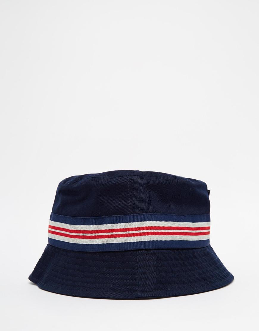 Fila Cotton Vintage Bucket Hat In Blue For Men Lyst