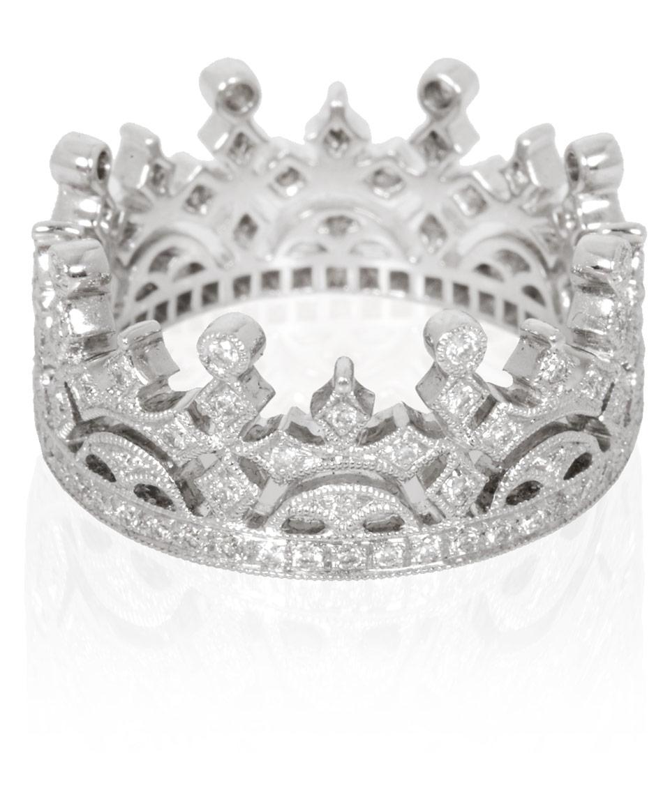 Fabulous Lyst - Kojis White Gold Diamond Crown Ring in White JU02