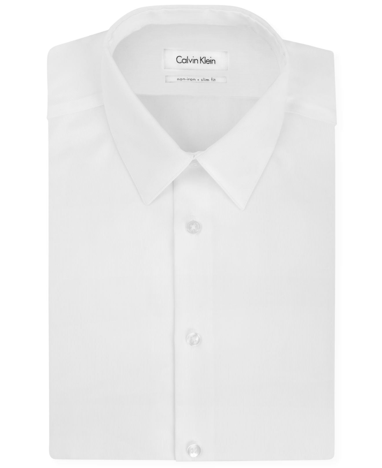 Lyst calvin klein steel slim fit non iron textured solid for White non iron dress shirts