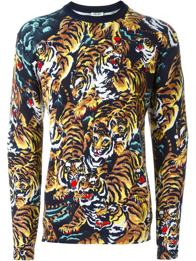 Lyst - KENZO  flying Tiger  Sweater in Black for Men c16b015456c