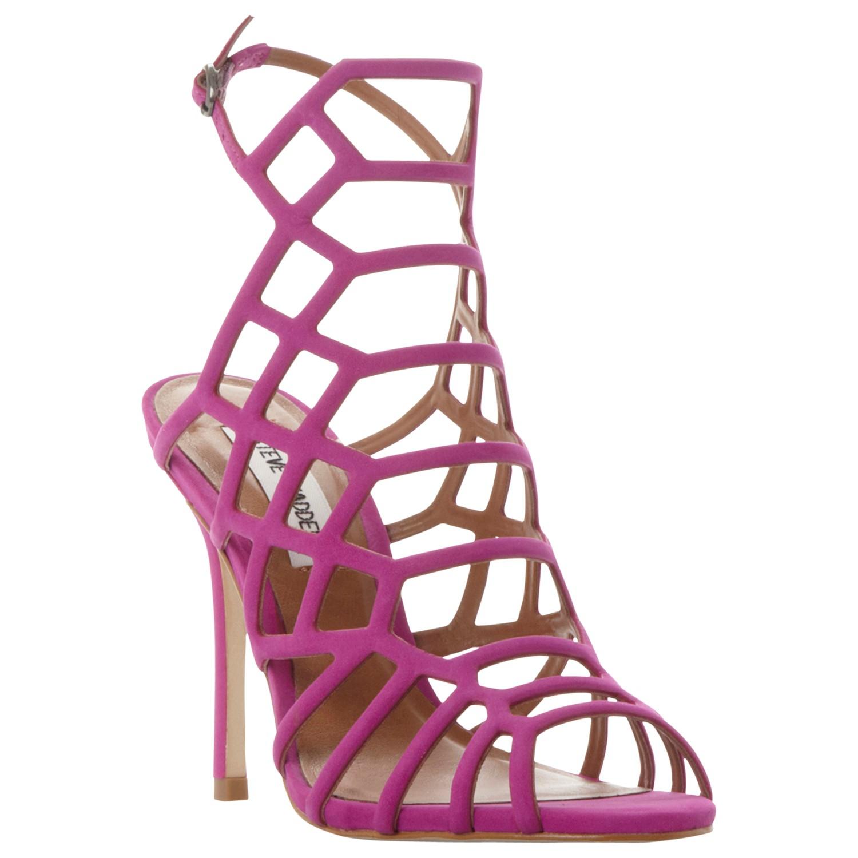965347cd961 Steve Madden Slithur High Heeled Cage Sandals in Pink - Lyst