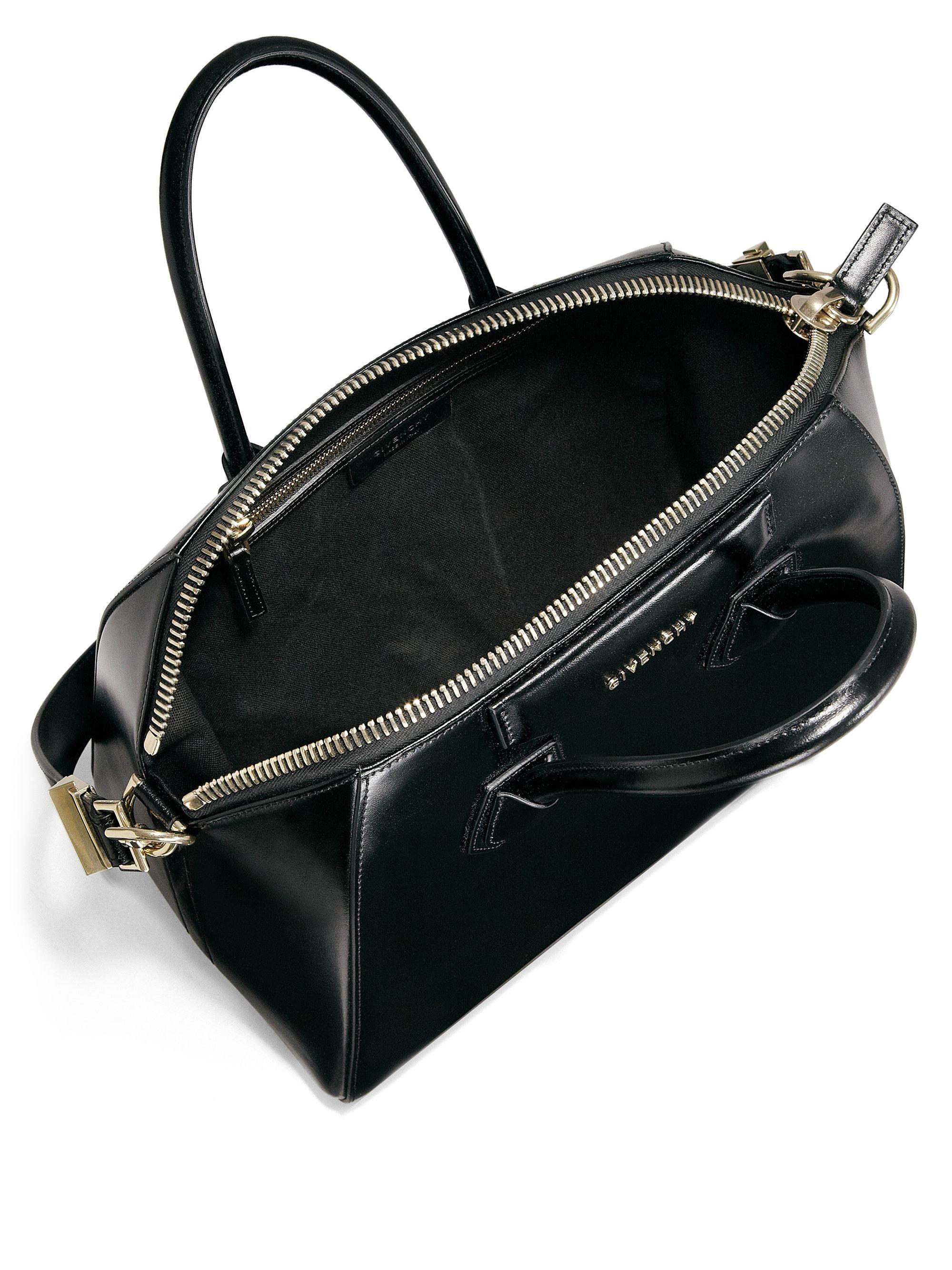 replica chloe purse - givenchy antigona small glazed black leather satchel, givenchy ...