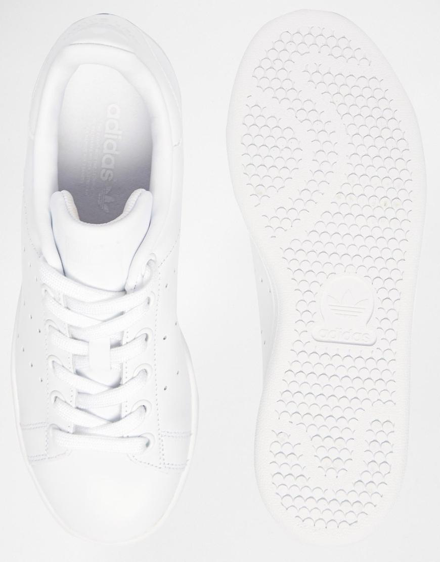 b58b933f29787 Lyst - adidas Originals Originals Triple White Stan Smith Trainers in White