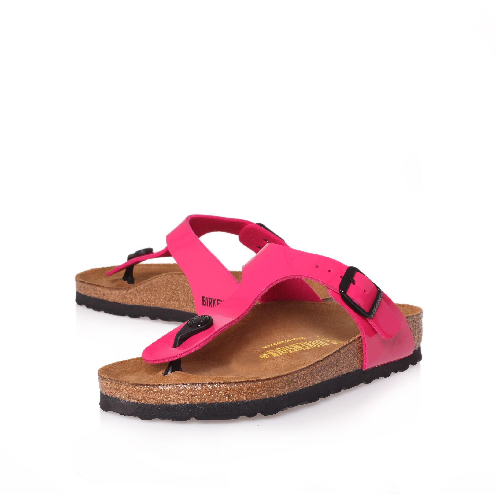 birkenstock gizeh leather t bar sandals in pink lyst