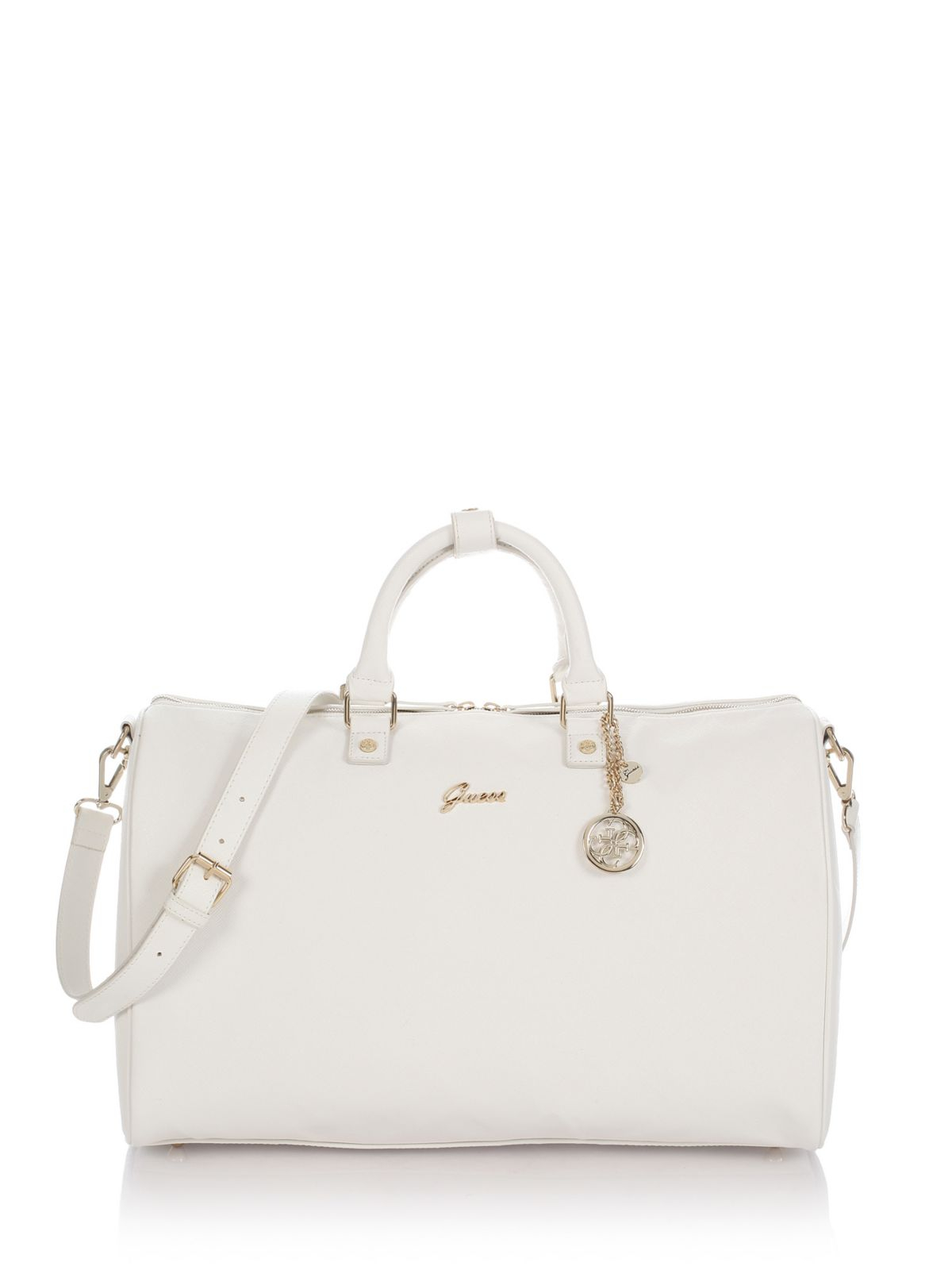 Guess Midtown Travel Bag in White | Lyst