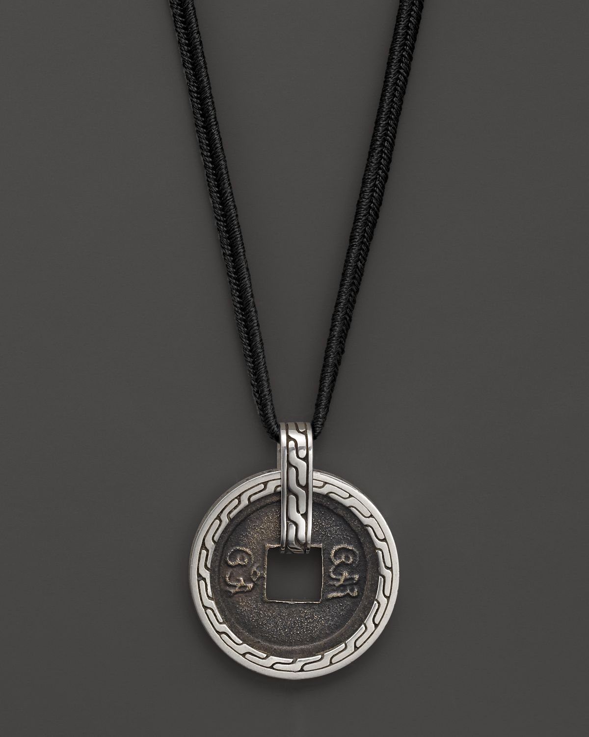 liberman mg necklace black ottomon coin product karen pendant ancient diamond