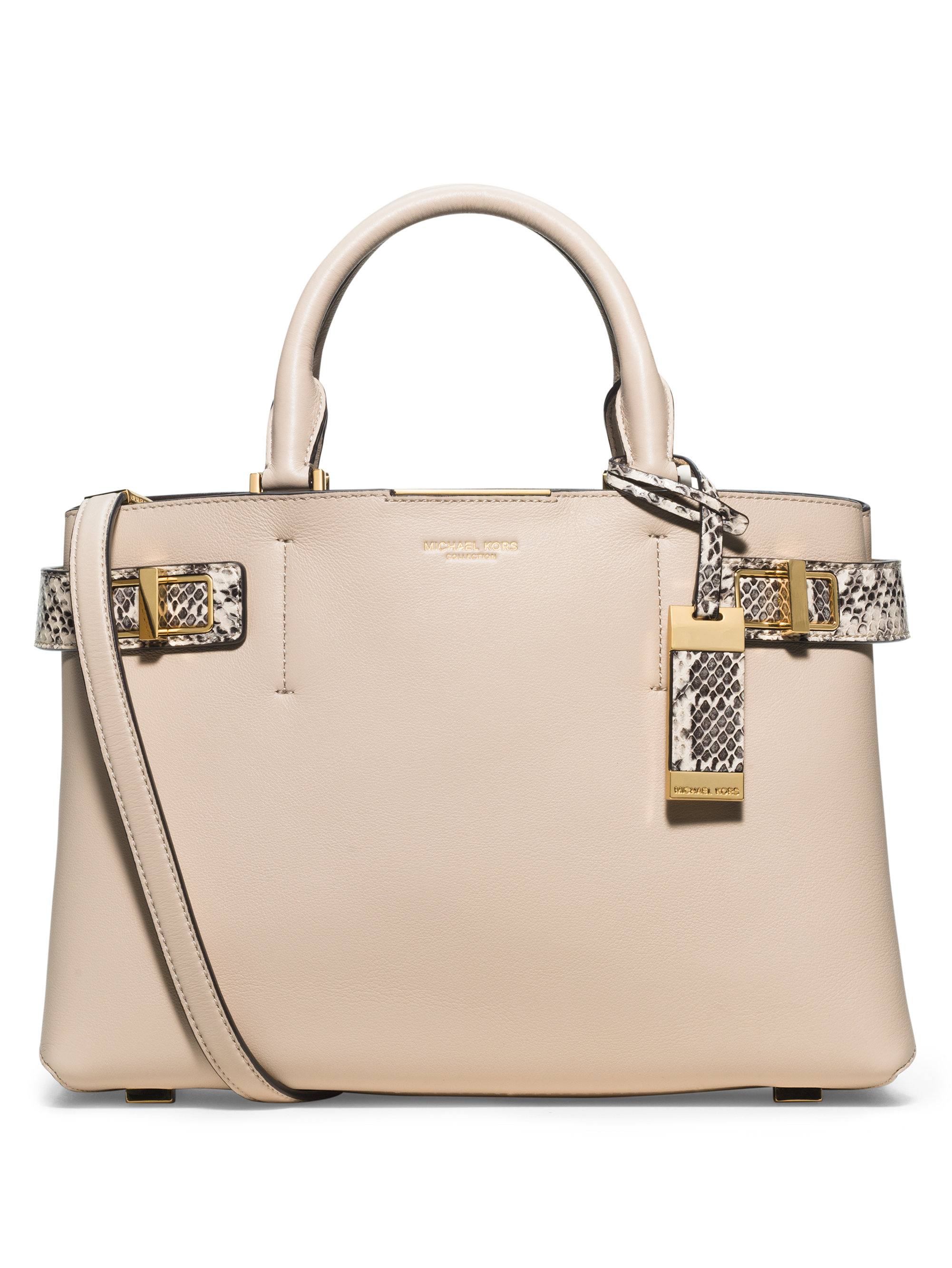... australia lyst michael kors bette medium leather snakeskin satchel in  white 9f608 1d1e3 e2c22d81bc0e3