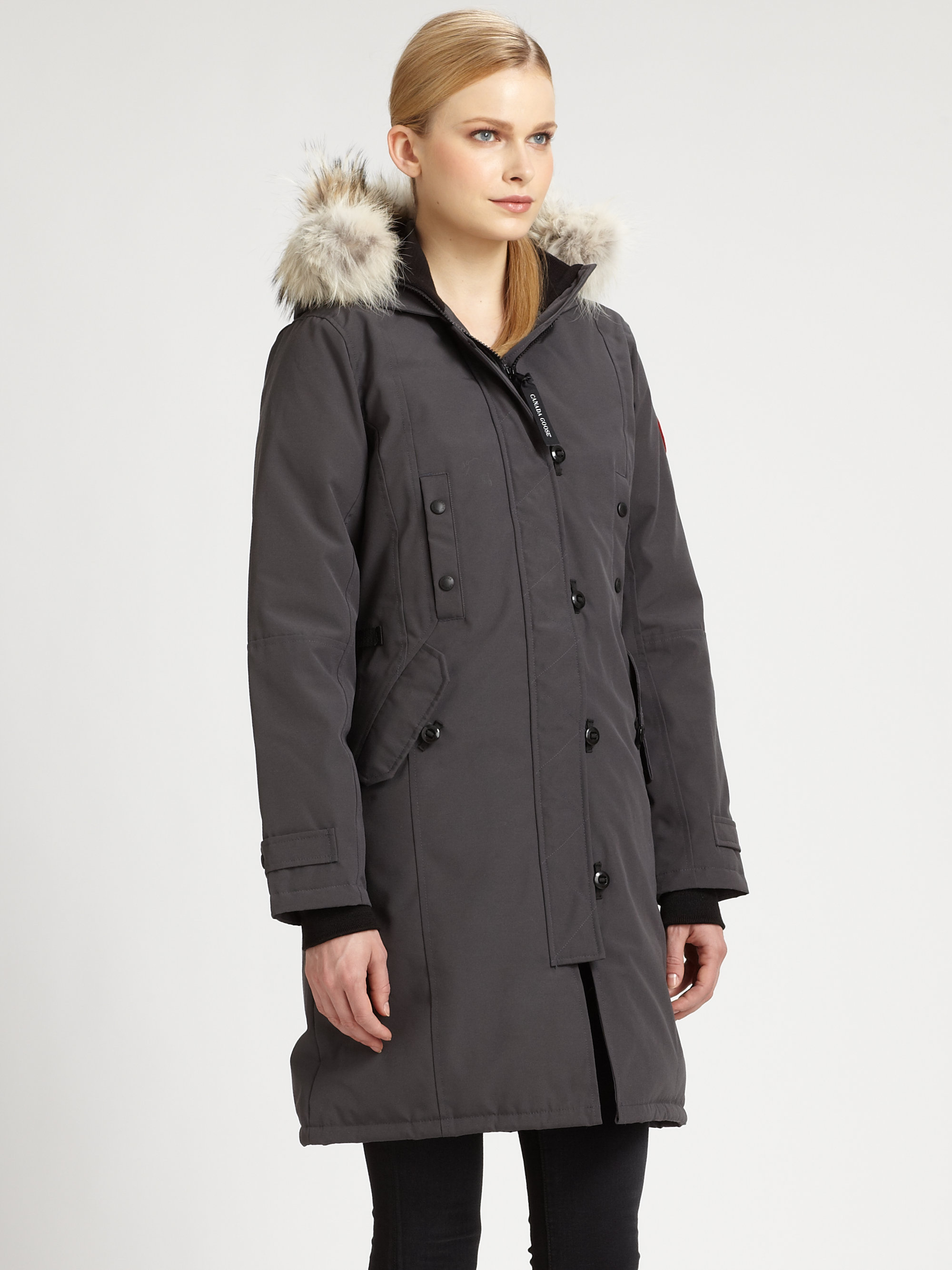 Canada Goose chilliwack parka outlet store - Canada goose Fur-trimmed Kensington Down Parka in Gray (GRAPHITE ...