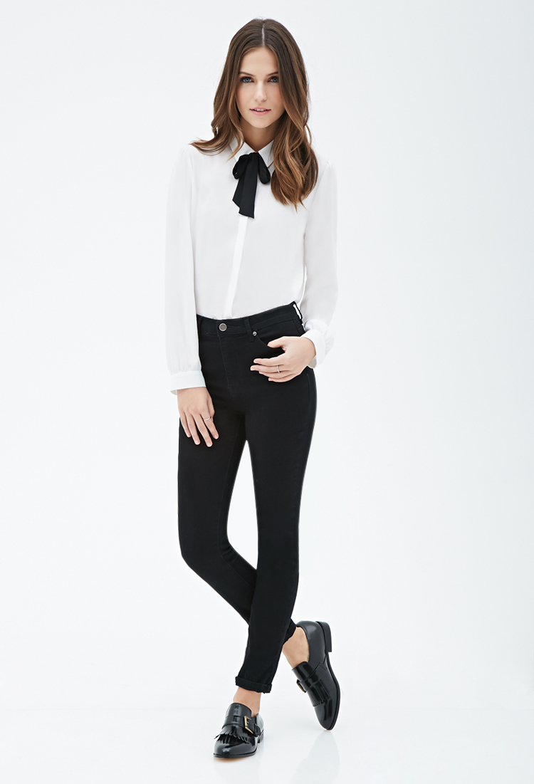 White Blouse With Black Bow Forever 21 Rockwall Auction