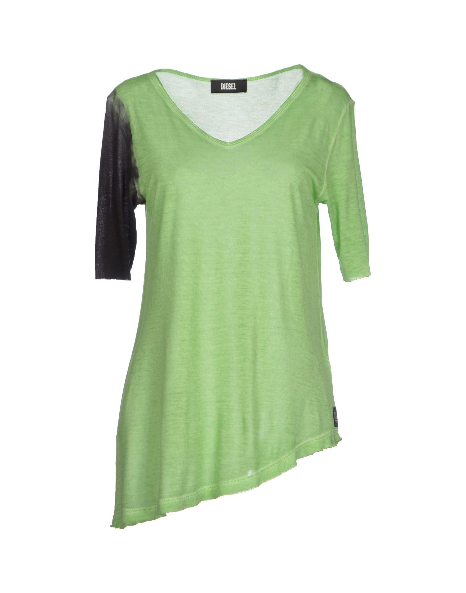 diesel t shirt in green light green lyst. Black Bedroom Furniture Sets. Home Design Ideas