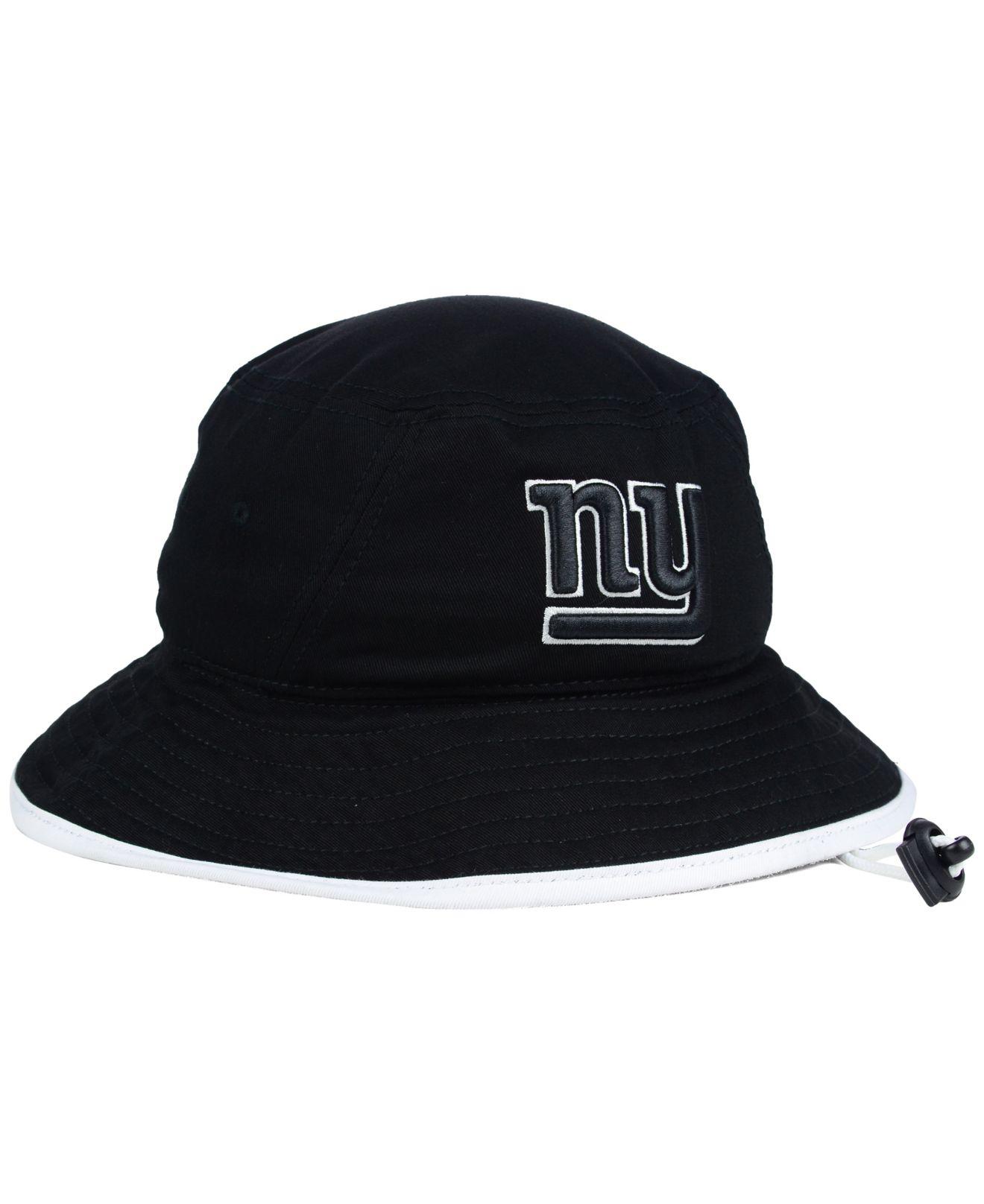 Lyst - KTZ New York Giants Nfl Black White Bucket Hat in Black 18333db5392