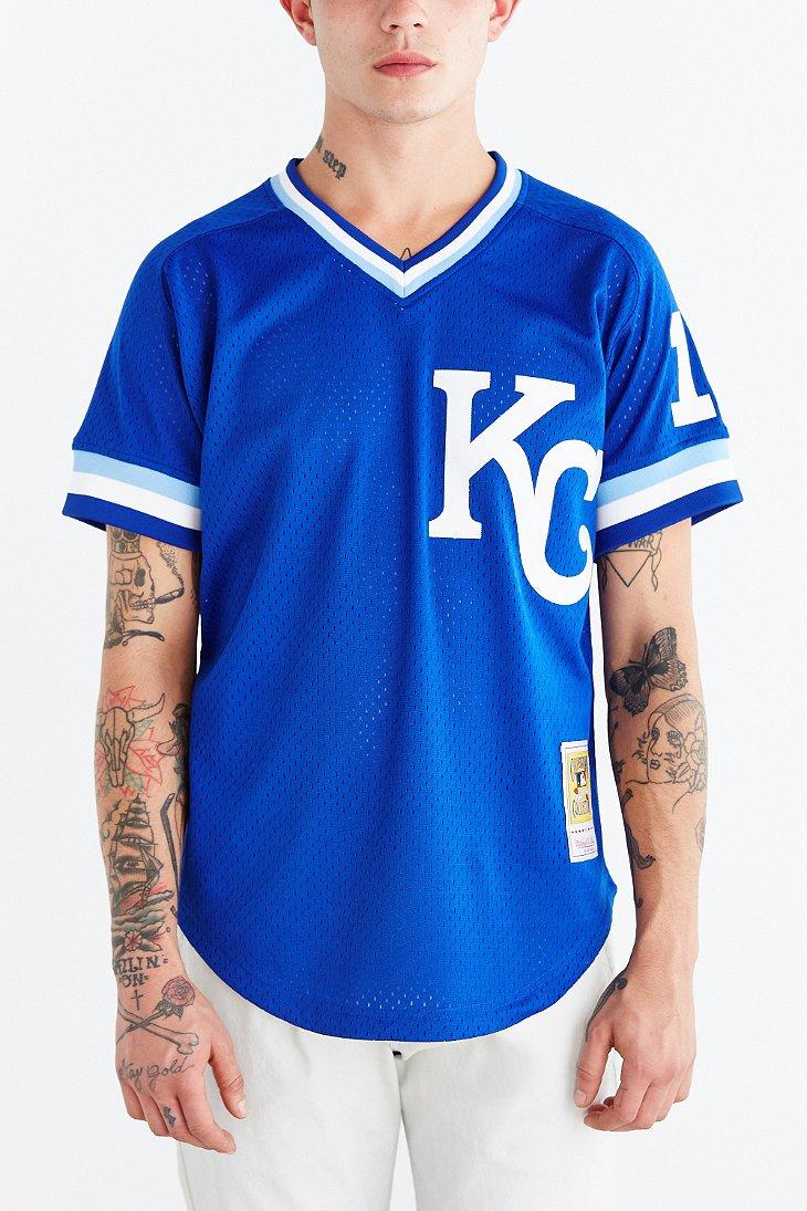 size 40 03214 3da2e Mitchell & Ness - Blue Kansas City Royals Jersey for Men - Lyst