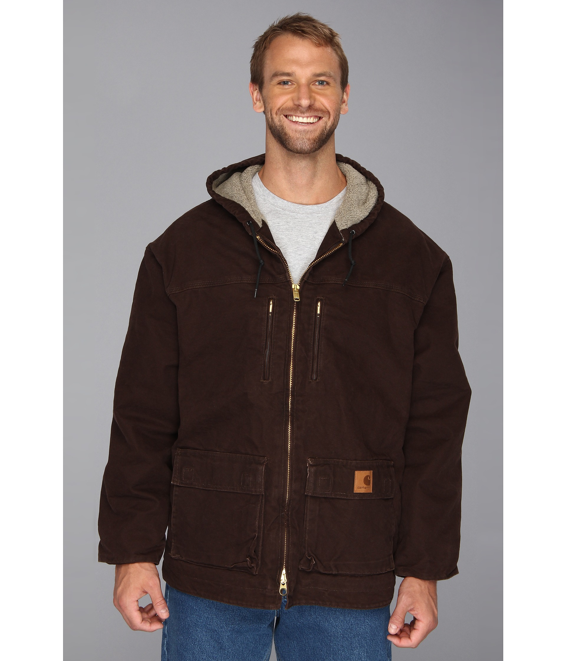 Carhartt Sandstone Jackson Coat 3xl 4xl In Brown For Men