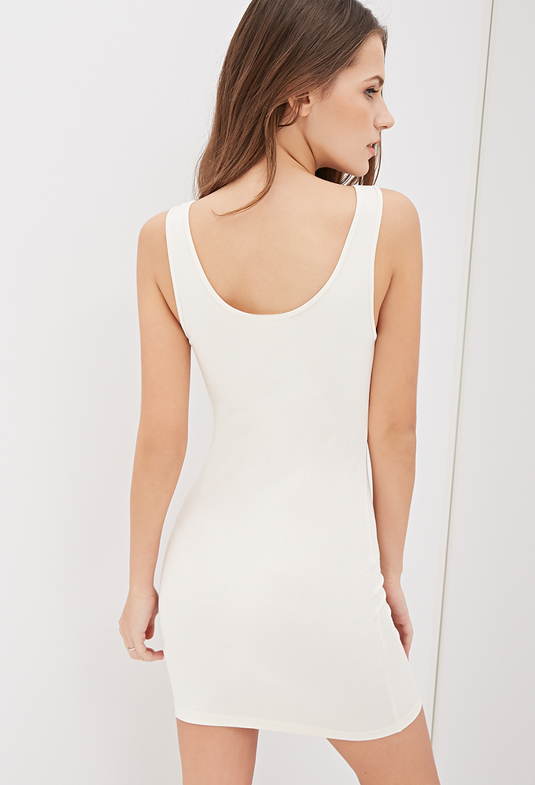 dc0be20a200 Forever 21 Bodycon Tank Dress in White - Lyst