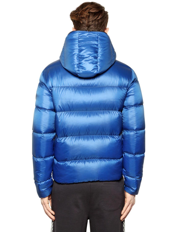 Emporio armani Nylon Mountain Down Jacket in Blue for Men | Lyst