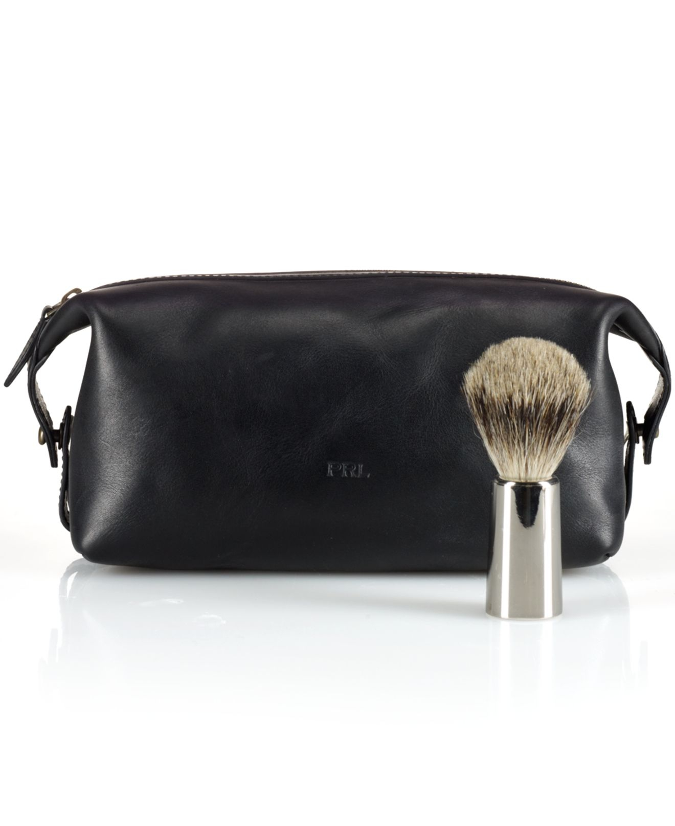 Lyst - Polo Ralph Lauren Leather Shaving Kit in Black for Men 38cd1a08b2280
