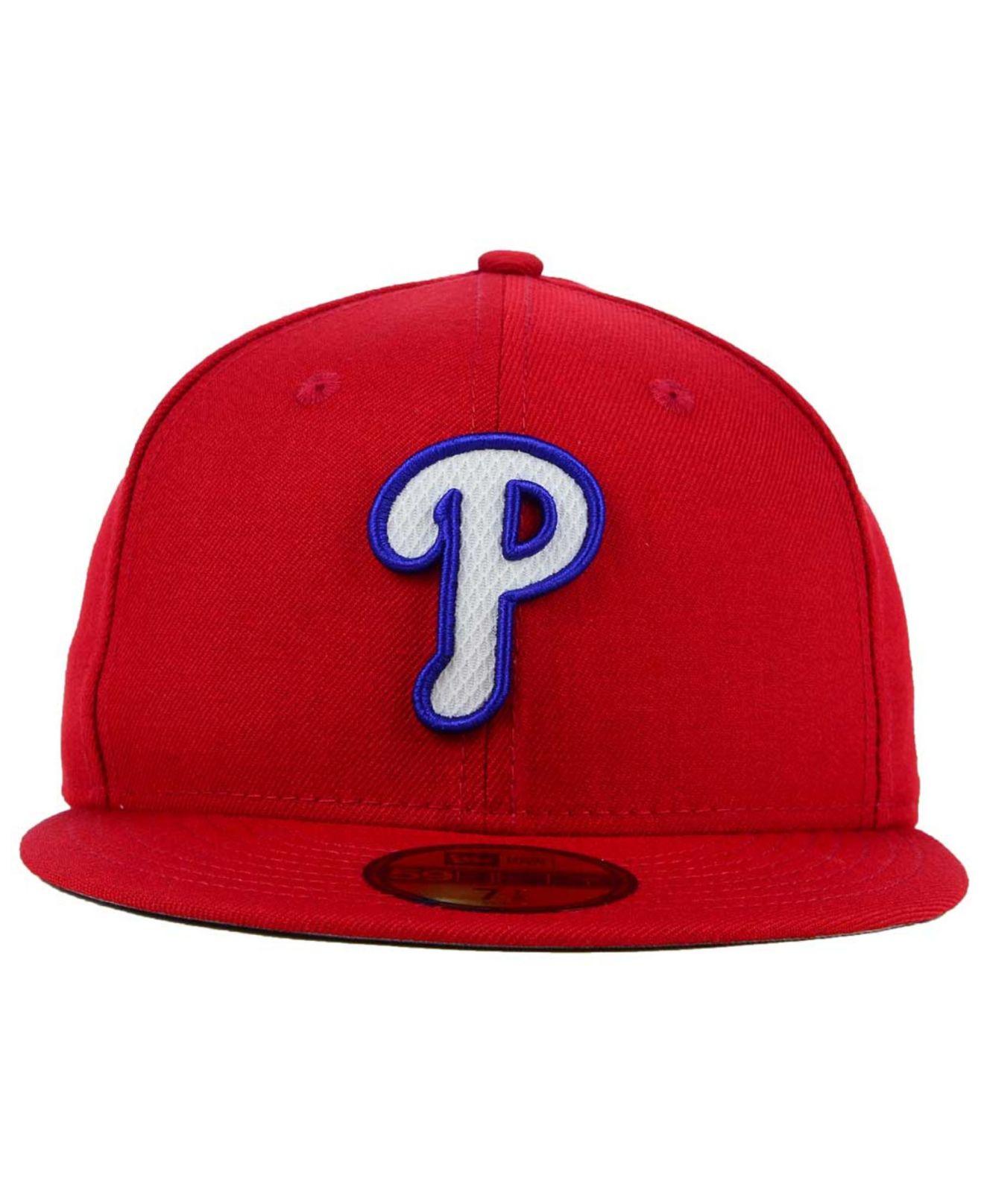 f7b9ce3a488 Lyst - KTZ Philadelphia Phillies Logo Lush 59fifty Cap in Red for Men