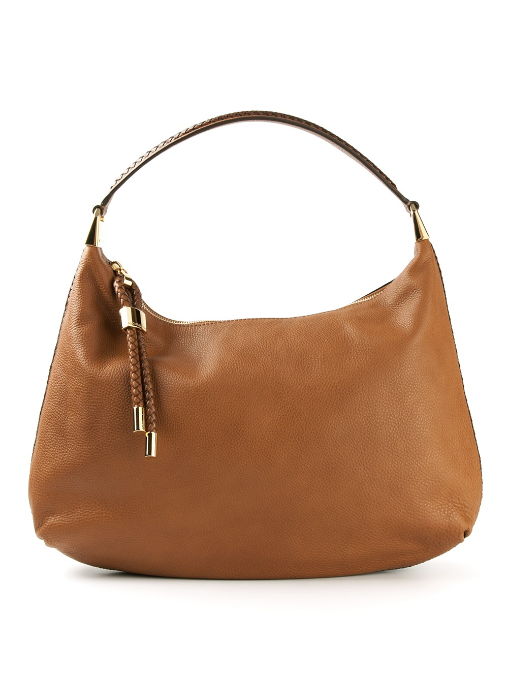 michael kors skorpios hobo shoulder bag in brown lyst. Black Bedroom Furniture Sets. Home Design Ideas