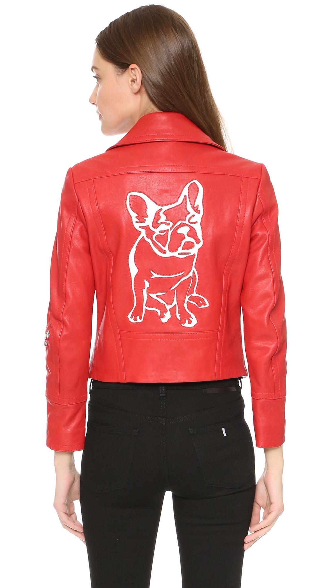 Yigal azrouel leather jacket
