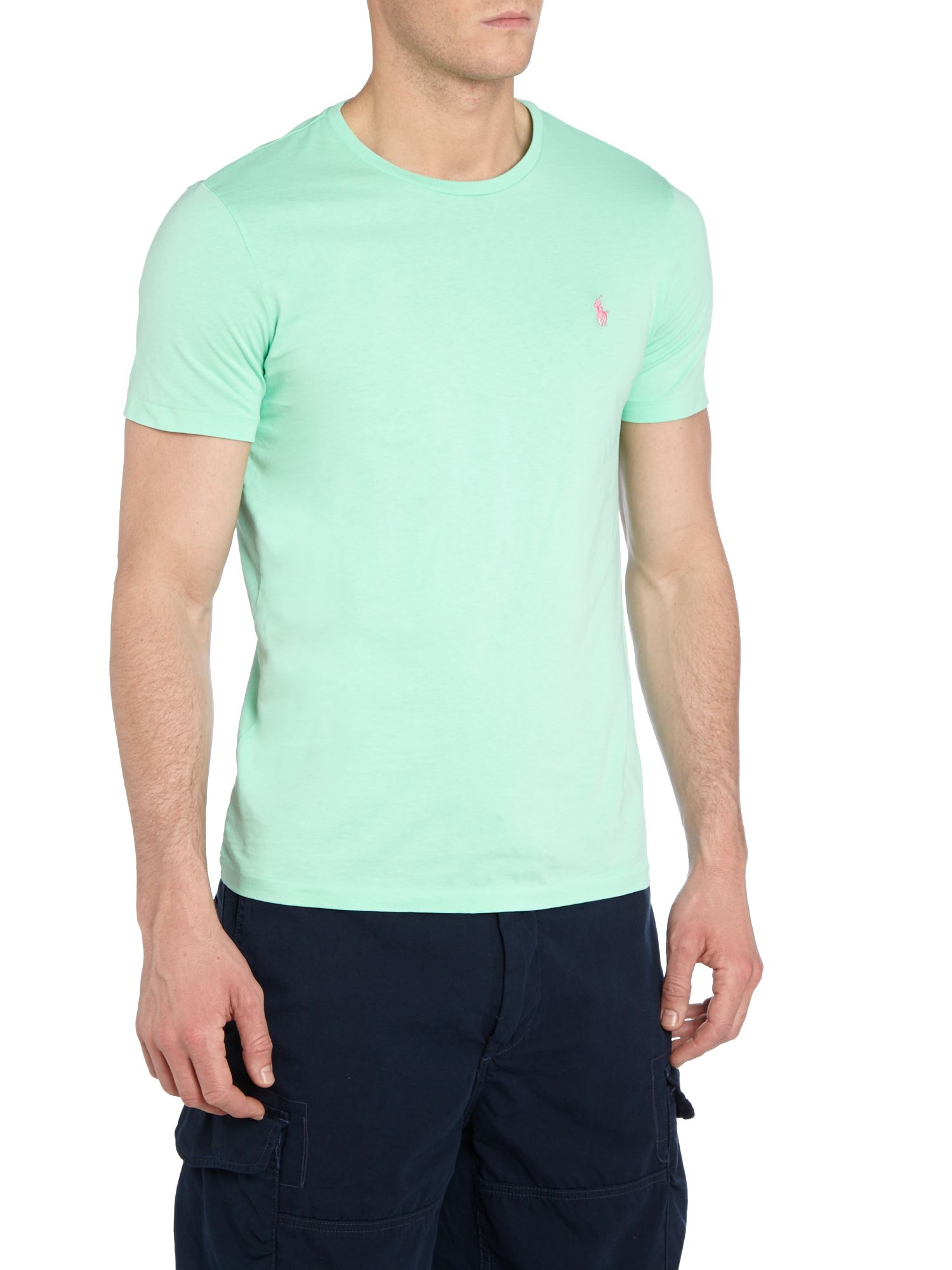 polo ralph lauren classic custom fit tshirt in blue for