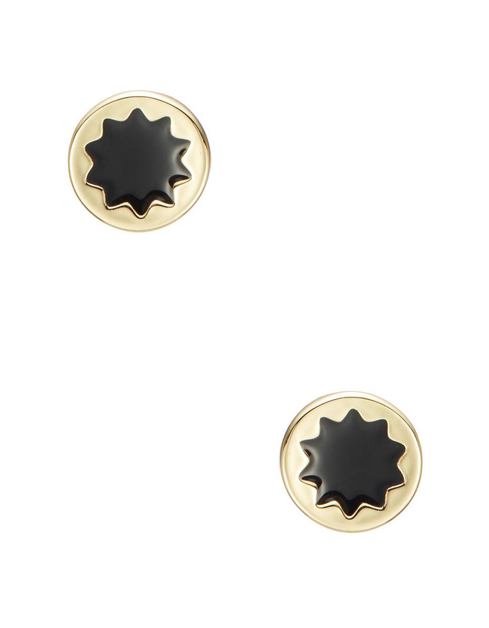 house of harlow 1960 mini sunburst stud earrings in black