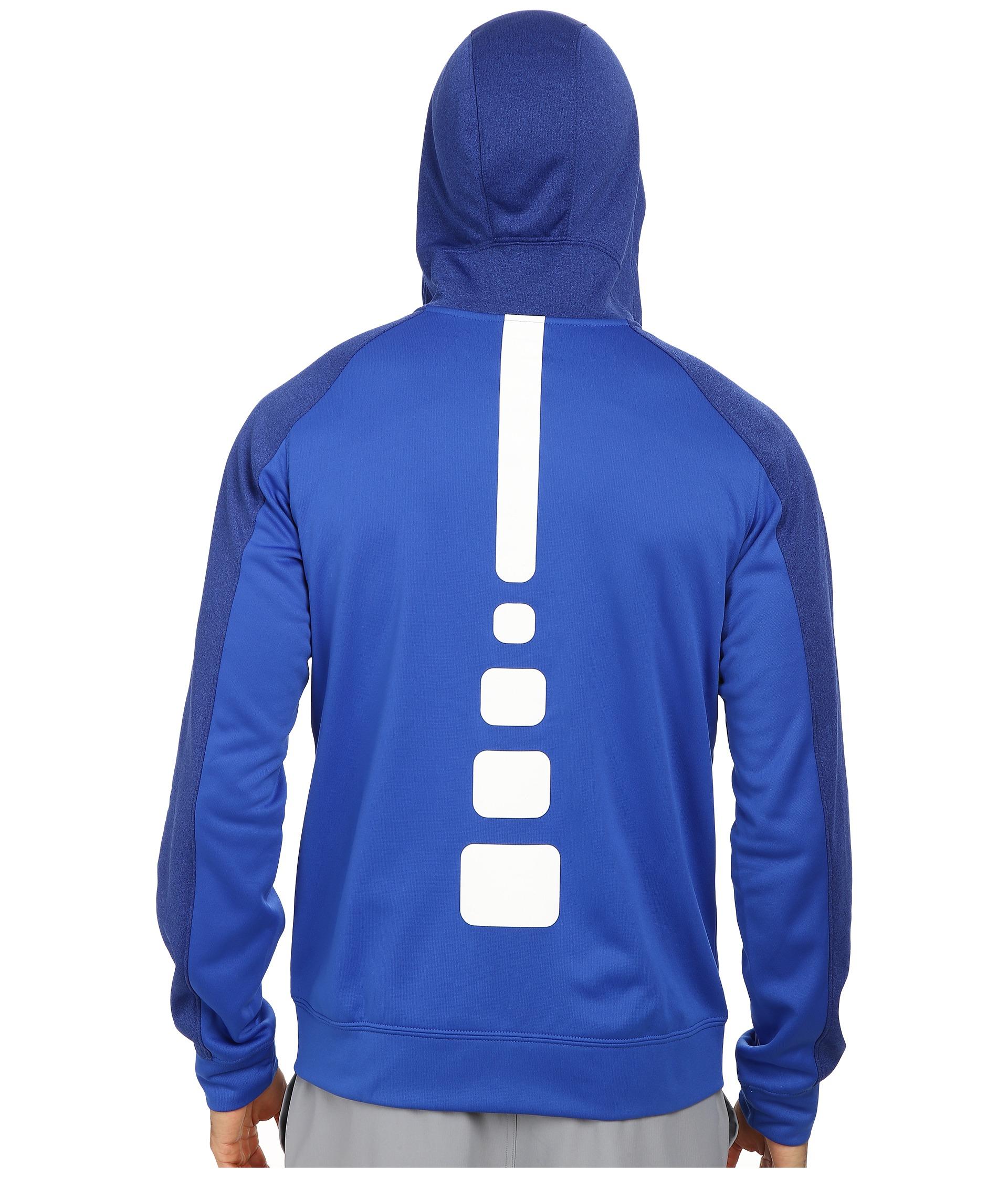 9bc2edf22c7b Lyst - Nike Elite Stripe Full-Zip Performance Fleece Hoodie in Blue ...