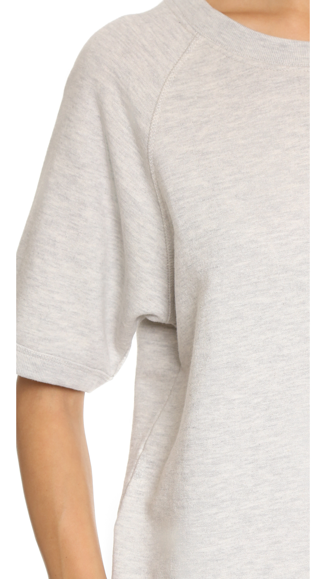 Sincerely jules Cara Short Sleeve Sweatshirt in White | Lyst