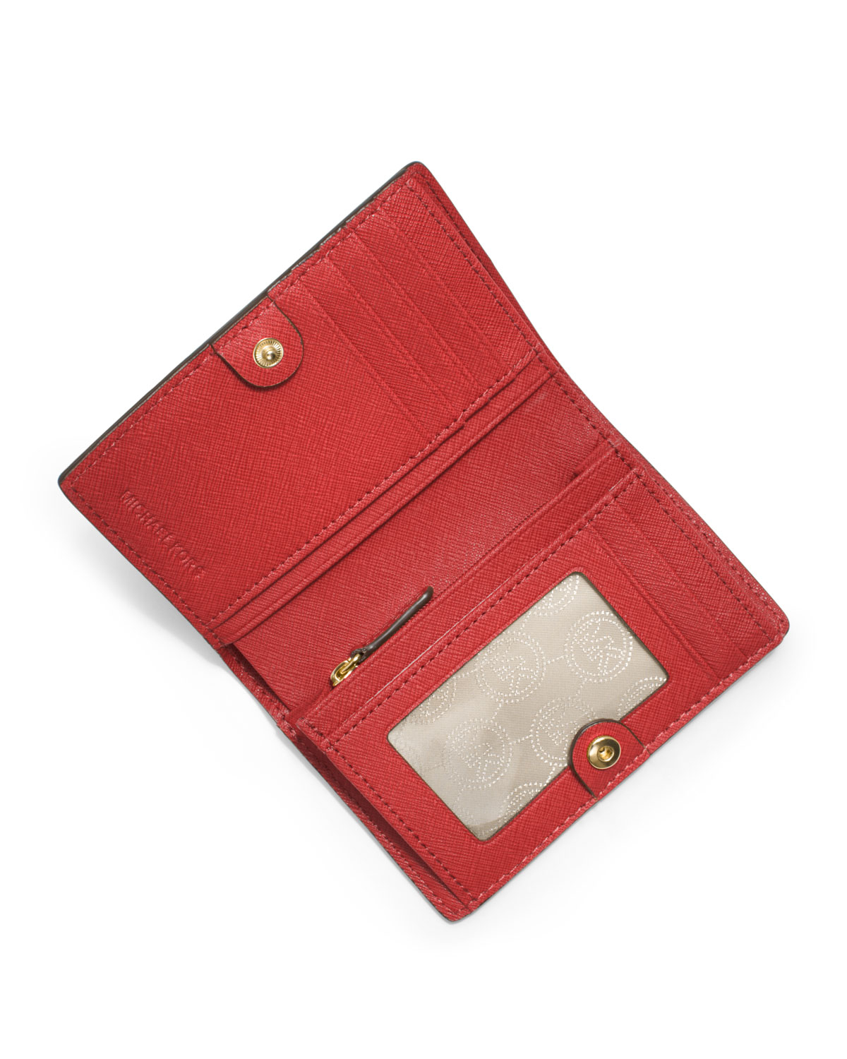 a725df8c1146 Lyst - Michael Kors Michael Medium Jet Set Travel Slim Wallet in Red