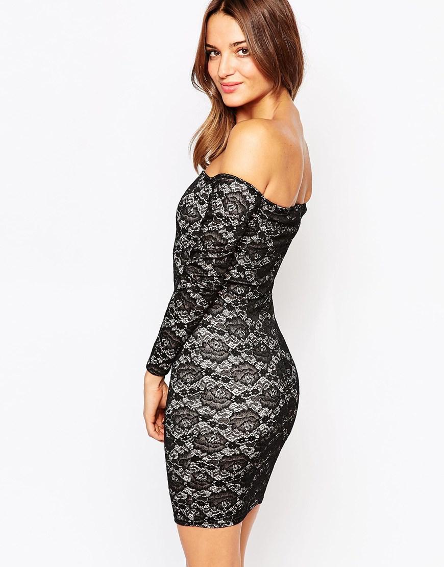 Strapless Lace Dress - Black AX PARIS a3ZMFtqsm