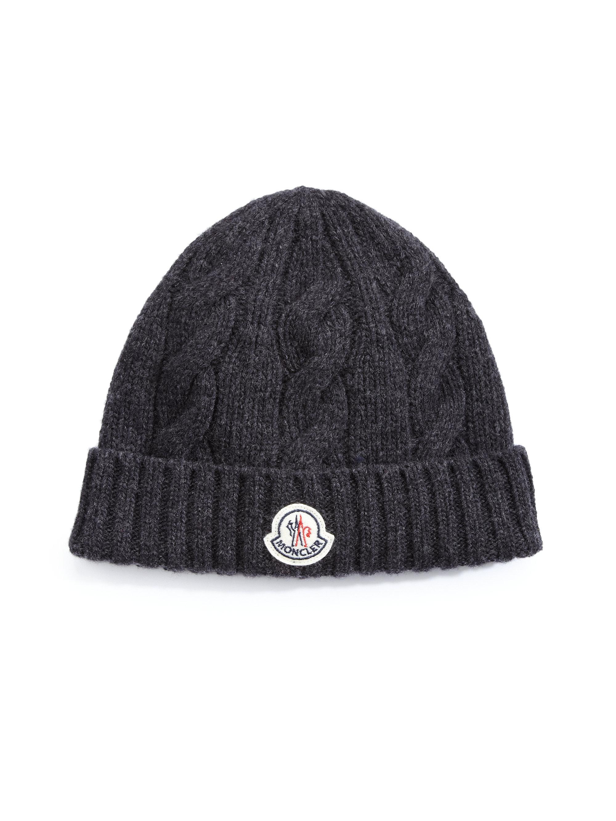 cb1c9fcf4 Lyst - Moncler Cable-knit Cap in Black for Men
