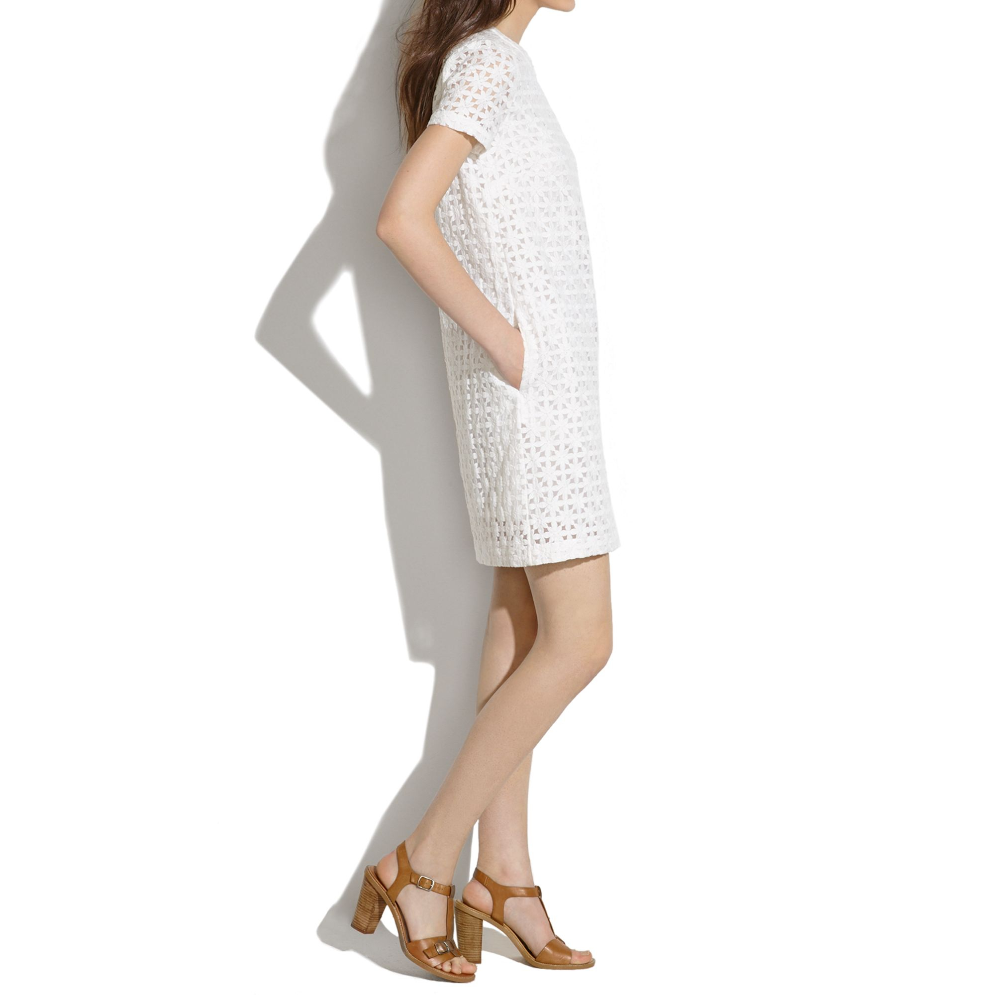 159cea6f71 Lyst - Madewell Lacebud Shift Dress in White