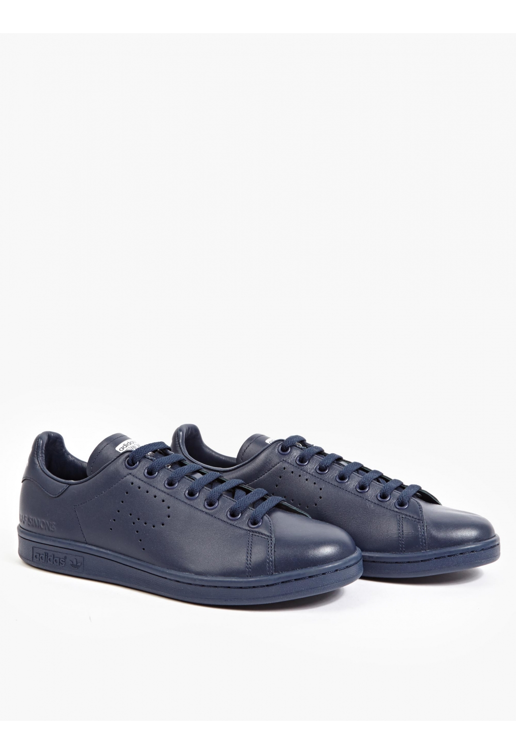 adidas by raf simons navy stan smith sneakers in blue for. Black Bedroom Furniture Sets. Home Design Ideas