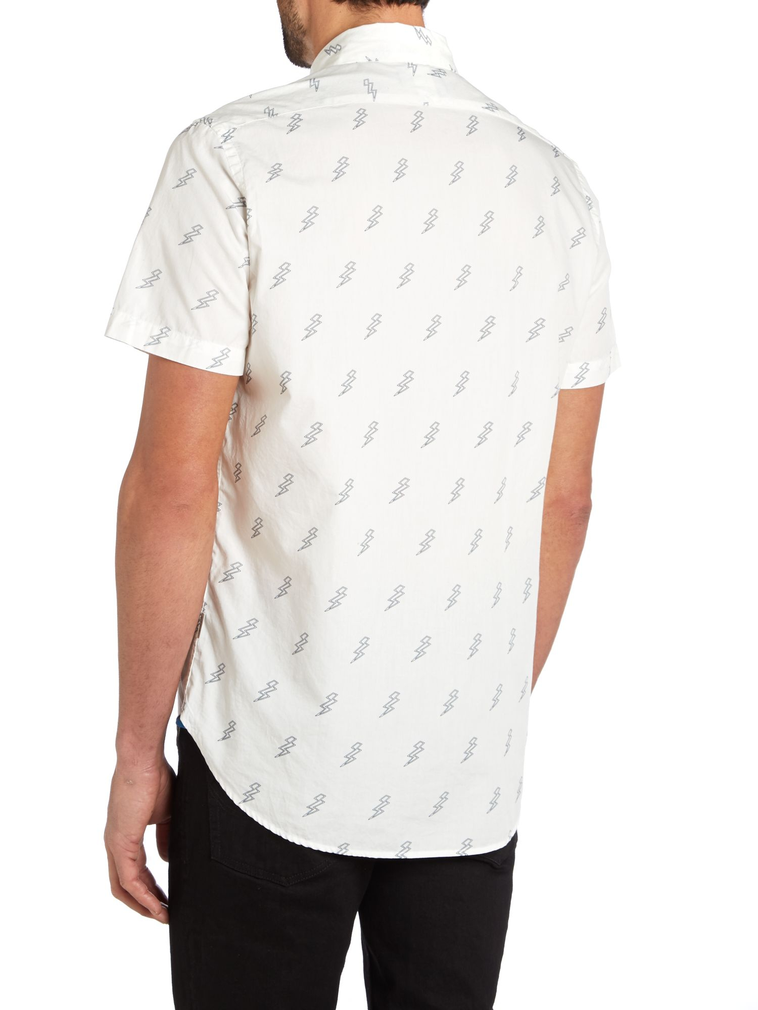 Lyst paul smith ss lightning button down collar shirt in for White button down collar shirt