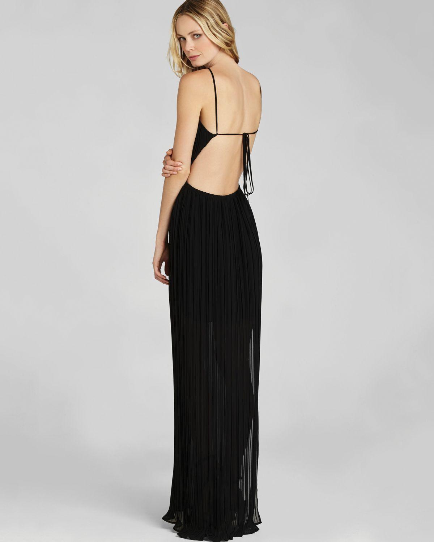Bcbgeneration Open Back Maxi Dress in Black | Lyst