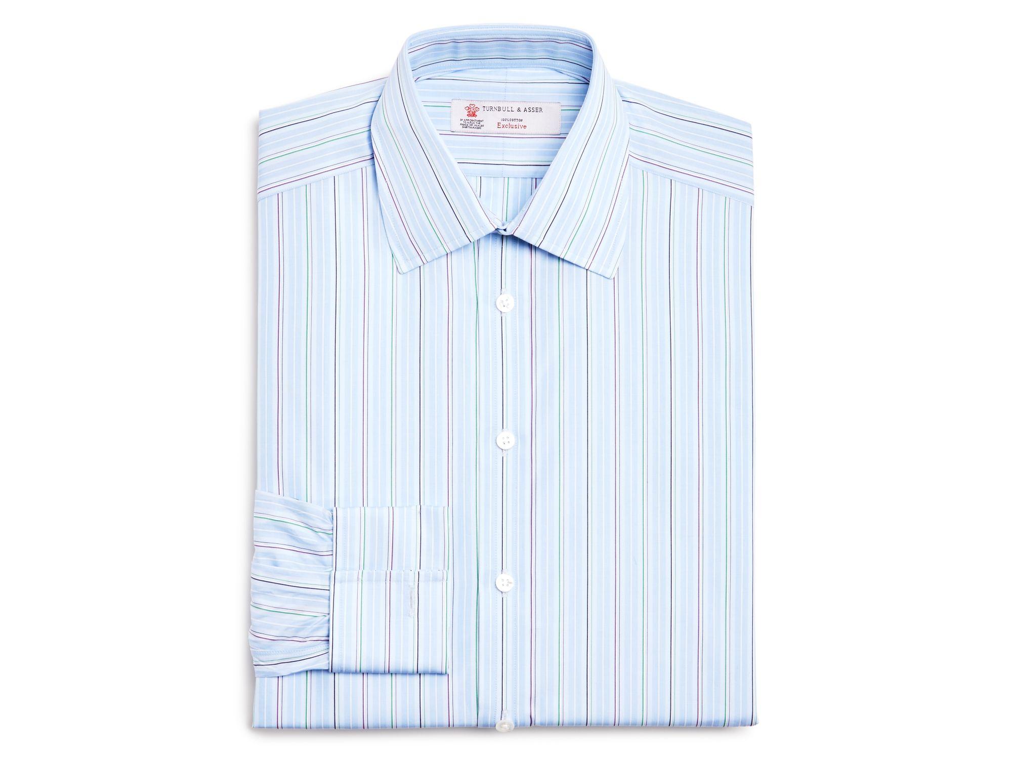 Turnbull Amp Asser Stripe Classic Fit Dress Shirt 100