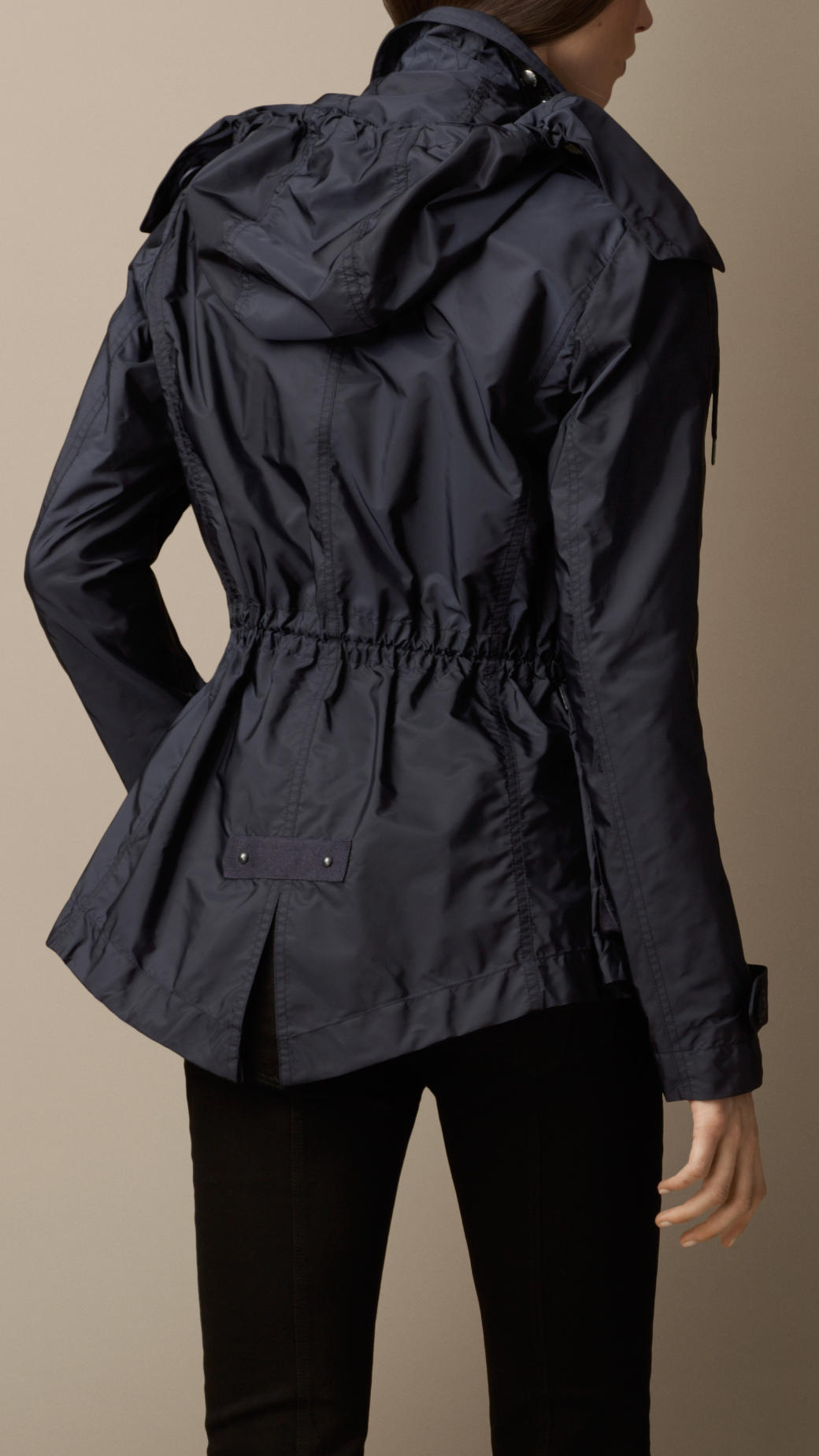 Burberry Lightweight Parka Jacket in Blue | Lyst