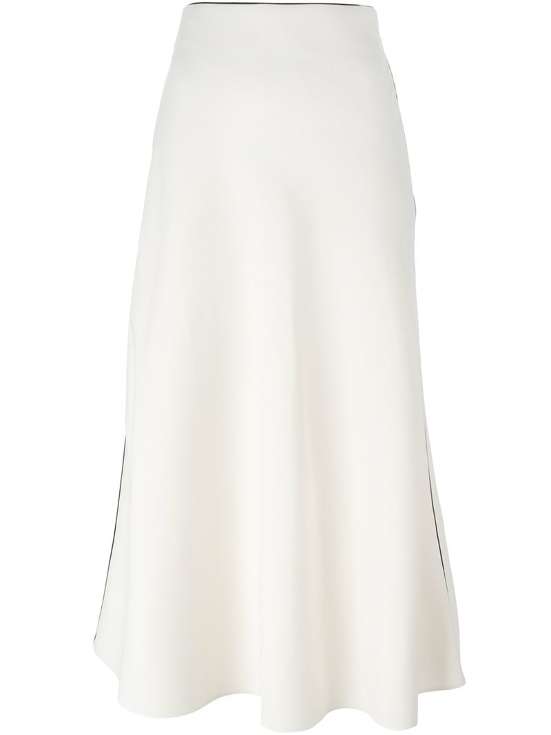 Valentino A-line Skirt in White   Lyst