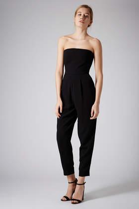 9e56dc0e0ba Lyst - TOPSHOP Tailored Bandeau Jumpsuit in Black
