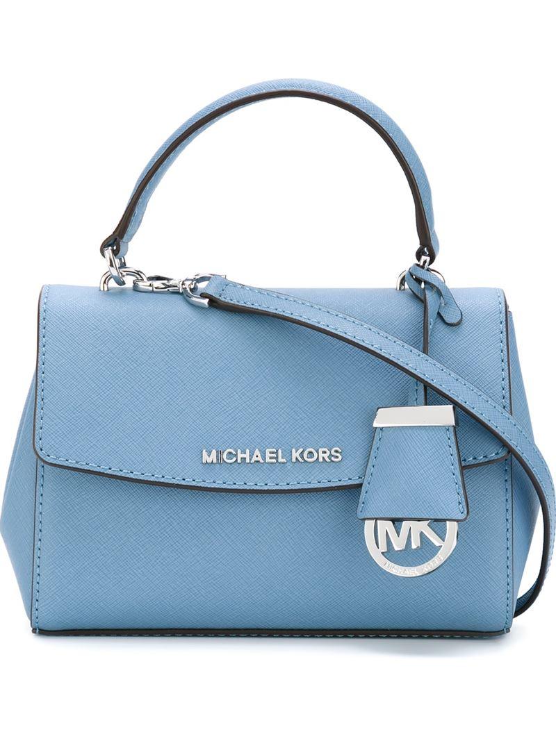 b4ce7fab74df ... official lyst michael michael kors extra small ava crossbody bag in  blue 9377d 545ac