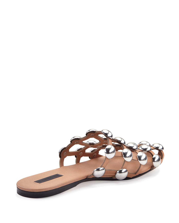 Alexander Wang Amelia Chaussures En Coton Slide Plat Bleu EqpgD5c4rA